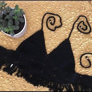 Black Crochet Bralette